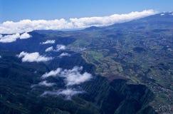 Vista aérea de la garganta y del llano de Cafres Imagen de archivo