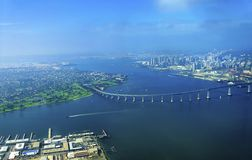 Vista aérea de la isla de Coronado, San Diego Foto de archivo
