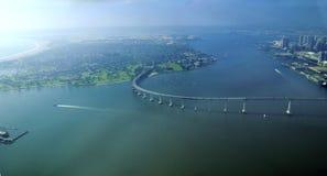 Vista aérea de la isla de Coronado, San Diego Fotos de archivo