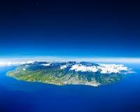 Vista aérea de la isla de Renion Imagen de archivo