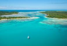 Vista aérea de la isla de Sainte Marie, Madagascar Imagen de archivo
