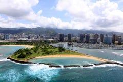Vista aérea de la isla mágica Fotografía de archivo libre de regalías