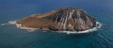 Vista aérea de la isla Oahu del conejo foto de archivo libre de regalías