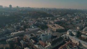 Vista aérea de la Kiev metrajes