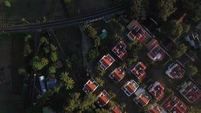 Vista aérea de la línea de la costa y del distrito salvajes de los hoteles de Mauritius Island almacen de metraje de vídeo