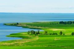Vista aérea de la laguna del Vístula Imagen de archivo libre de regalías