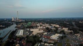 Vista aérea de la metrópoli de Ruhr en Alemania imagen de archivo libre de regalías