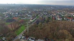 Vista aérea de la mina de carbón de la herencia Zollverein almacen de video