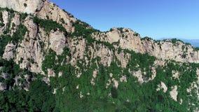 Vista aérea de la montaña máxima verde almacen de metraje de vídeo