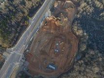 Vista aérea de la nueva construcción de la propiedad horizontal Imagen de archivo libre de regalías