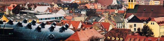 Vista aérea de la parte histórica de Graz, Austria Foto de archivo libre de regalías