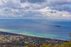 Vista aérea de la península del mornington Foto de archivo