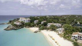 Vista aérea de la playa de Anguila Imagenes de archivo