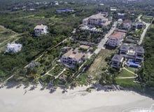 Vista aérea de la playa de Anguila Imagen de archivo