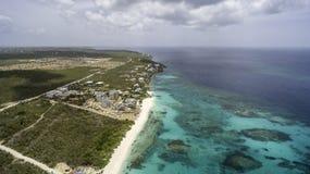 Vista aérea de la playa de Anguila Imágenes de archivo libres de regalías