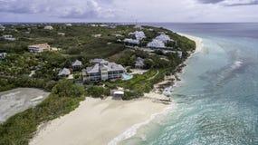 Vista aérea de la playa de Anguila Foto de archivo libre de regalías