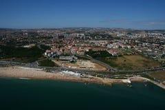 Vista aérea de la playa de Carcavelos Imágenes de archivo libres de regalías