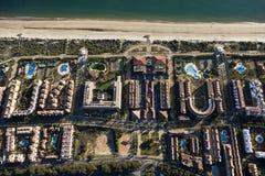 Vista aérea de la playa de Islantilla Imagen de archivo