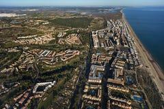Vista aérea de la playa de Islantilla Imagenes de archivo