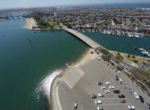 Vista aérea de la playa de las madres fotografía de archivo