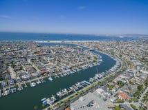 Vista aérea de la playa de las madres imagen de archivo libre de regalías