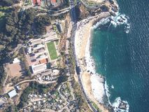 Vista aérea de la playa de las salinas Foto de archivo
