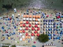Vista aérea de la playa en Katerini, Grecia fotos de archivo