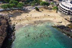 Vista aérea de la playa en Praia - Santiago de Prainha - capital de C Fotografía de archivo libre de regalías