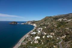 Vista aérea de la playa de Maronti Imagen de archivo libre de regalías