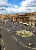 Vista aérea de la plaza Navona en Roma, vertical fotografía de archivo