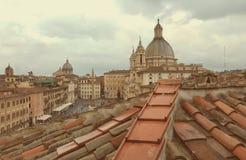 Vista aérea de la plaza Navona, Roma, Italia fotos de archivo libres de regalías