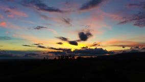 Vista aérea de la puesta del sol de un campo imágenes de archivo libres de regalías