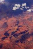 Vista aérea de la roca de Ayers Foto de archivo libre de regalías