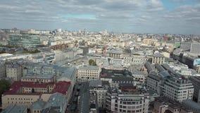 Vista aérea de la selva de la piedra de la ciudad almacen de metraje de vídeo