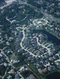 Vista aérea de la subdivisión de la vecindad Foto de archivo libre de regalías