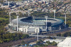 Vista aérea de la tierra del grillo de Melbourne Foto de archivo libre de regalías
