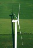 Vista aérea de la turbina de viento imágenes de archivo libres de regalías