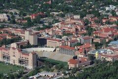 Vista aérea de la universidad de Colorado Fotos de archivo libres de regalías