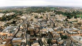 Vista aérea de la Universidad de Oxford famosa icónica Fotos de archivo libres de regalías