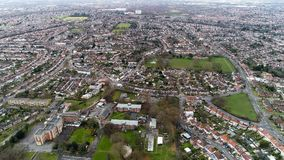 Vista aérea de la vecindad suburbana de Twickenham en Londres Fotografía de archivo libre de regalías