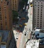Vista aérea de las calles de Manhattan imagen de archivo