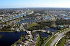 Vista aérea de las carreteras de la Florida imagen de archivo