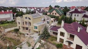 Vista aérea de las consecuencias del derrumbamiento en Chernomorsk, Ucrania almacen de metraje de vídeo