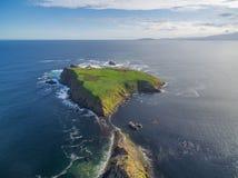 Vista aérea de las cortes isla, Tasmania Imagen de archivo libre de regalías