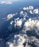 Vista aérea de las formas de las nubes fotografía de archivo libre de regalías