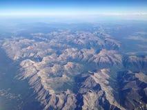Vista aérea de las montañas de Colorado fotos de archivo