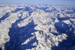 Vista aérea de las montan@as Fotografía de archivo libre de regalías