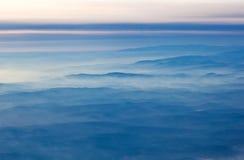 Vista aérea de las montan@as Imágenes de archivo libres de regalías