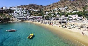 Vista aérea de las playas de la isla griega de la isla del IOS, Cyclad Imagen de archivo