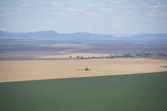 Vista aérea de las tierras de labrantío Australia de la cosecha y del trigo Fotos de archivo libres de regalías